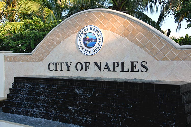 City of Naples Sign